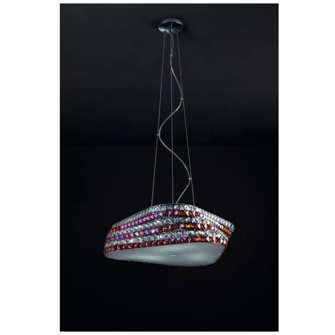 Contemporary Crystal Pendant Light
