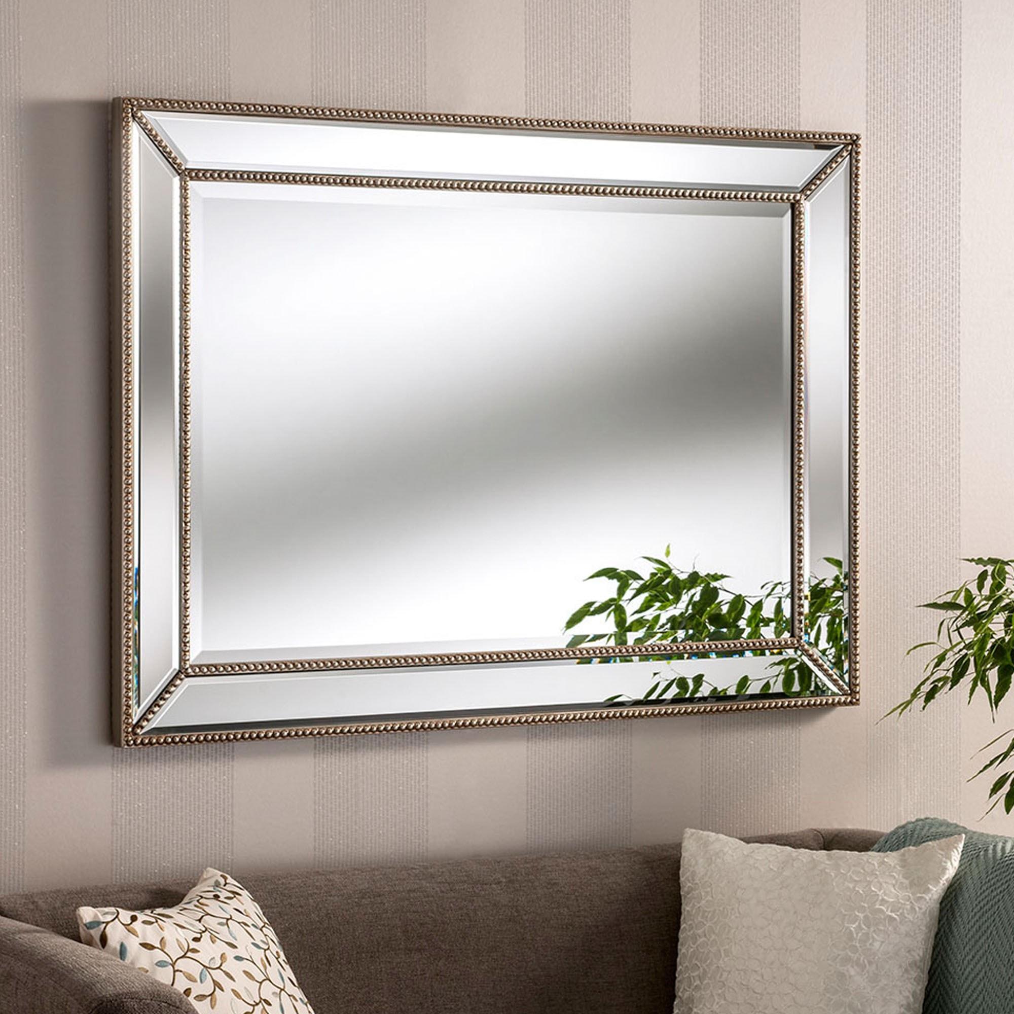 Contemporary Monaco Silver Wall Mirror Contemporary Wall Mirrors