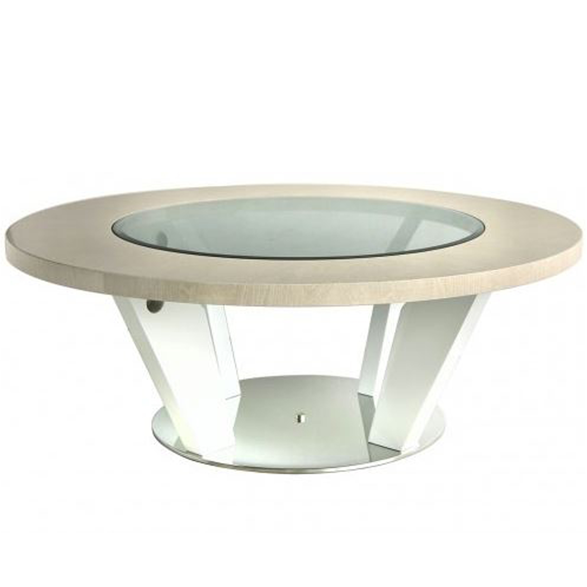 - Light Walnut Modern Round Coffee Table Coffee Tables