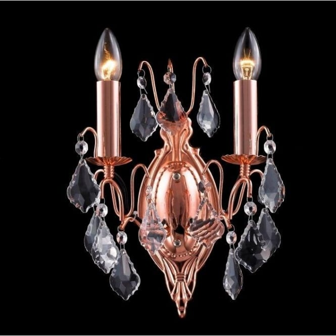 Copper/Rose Antique French Style Sconce