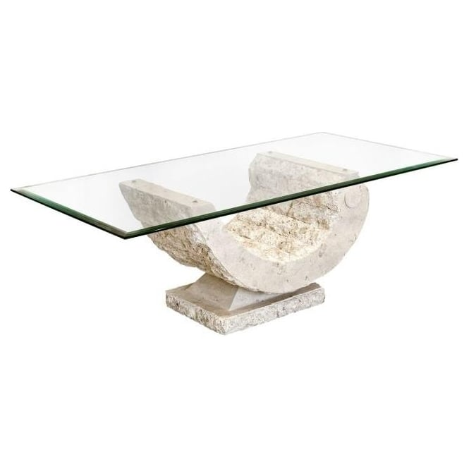Coral Mactan Stone Coffee Table
