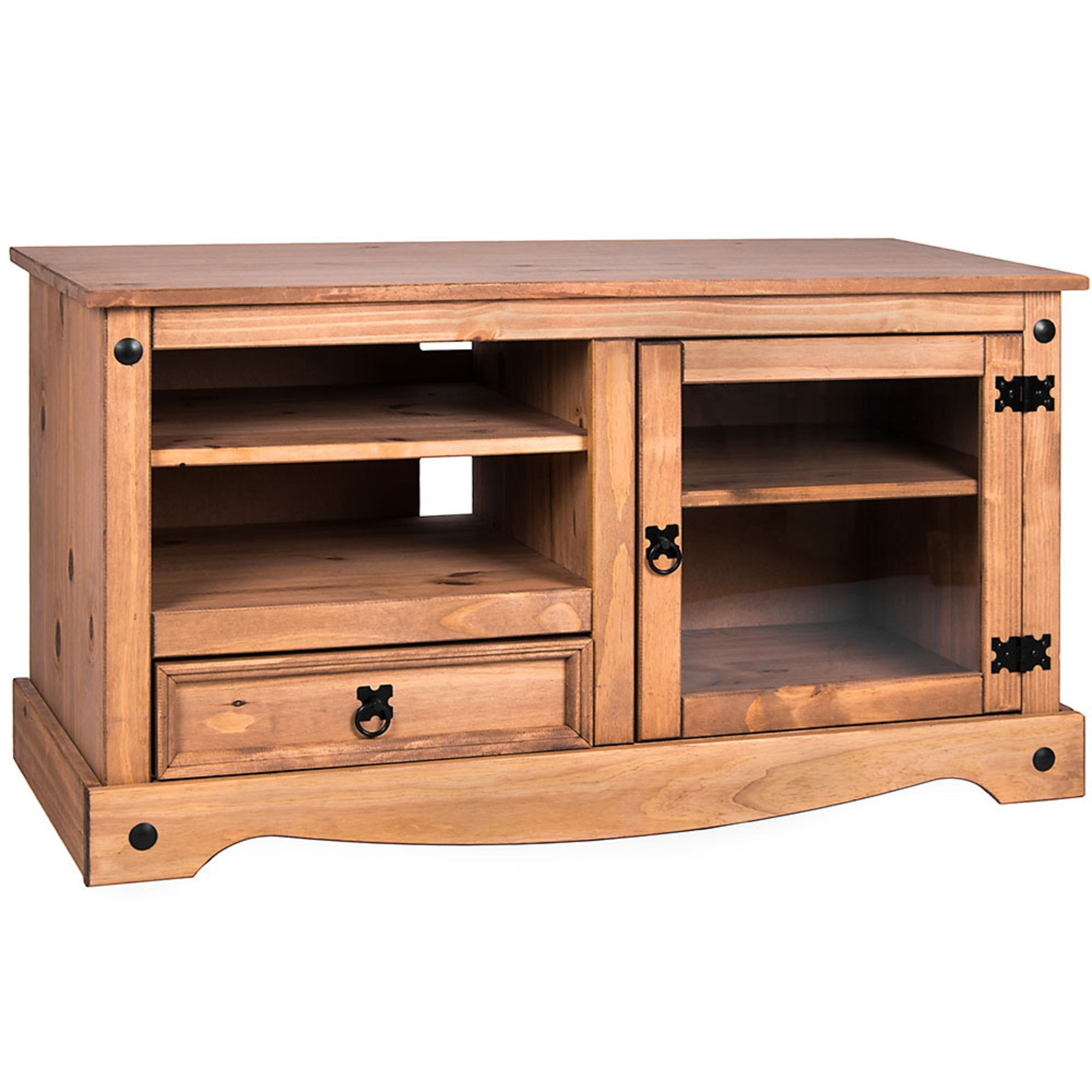 Corona Single Drawer TV Cabinet | Oak Furniture