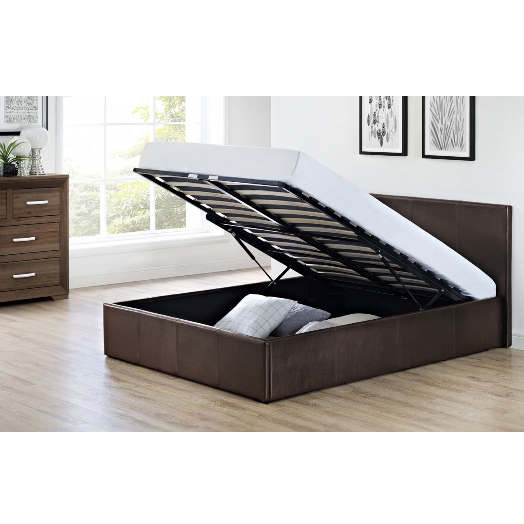 Cosmo Lift Up Storage Bed Modern Contemporary Beds