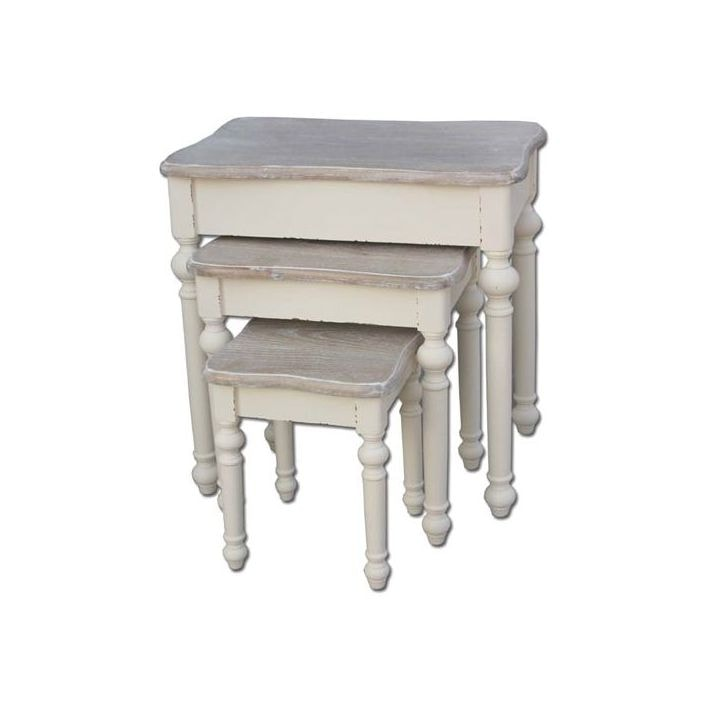 Country Antique French Nest Of Tables Works Well Alongside Our Shabby Chic Furniture