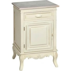Country Farmhouse Antique French Style Bedside Cabinet (Left Hand)