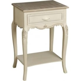Country Farmhouse Antique French Style Bedside Table