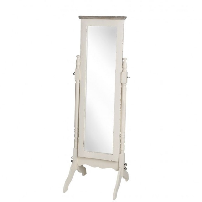 Country Farmhouse Antique French Style Cheval Mirror