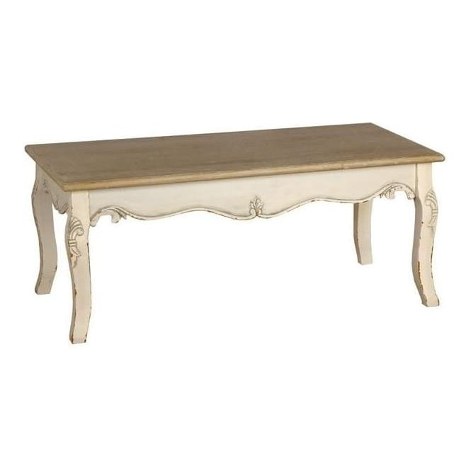 Country Farmhouse Antique French Style Coffee Table