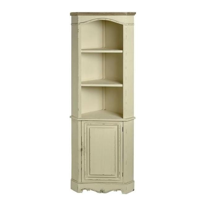 Country Farmhouse Antique French Style Corner Cupboard