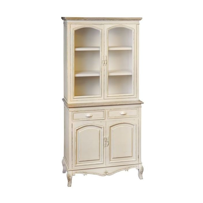 Country Farmhouse Antique French Display Cabinet