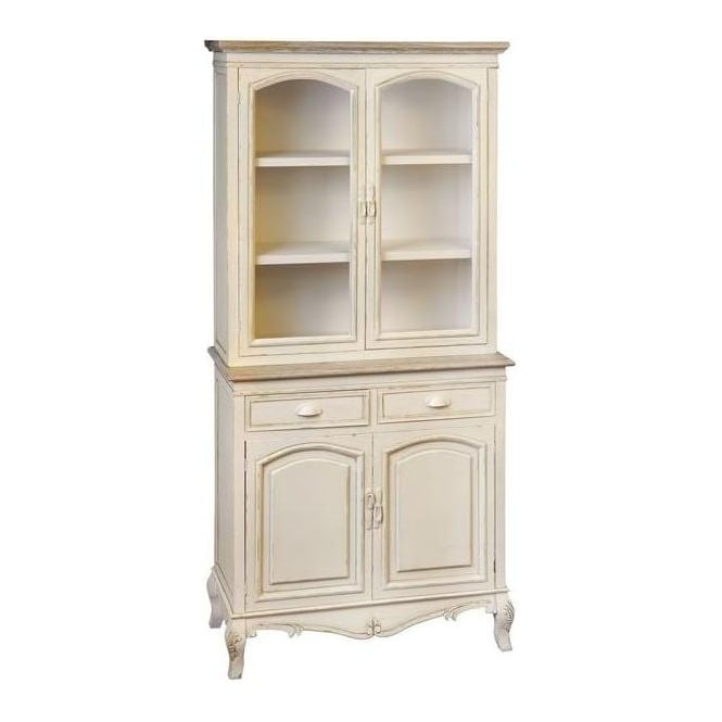 Country Farmhouse Antique French Style Display Cabinet