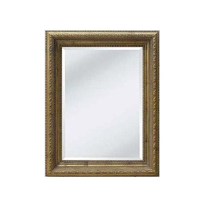 Country Gold Antique French Style Frame with Bevel Mirror