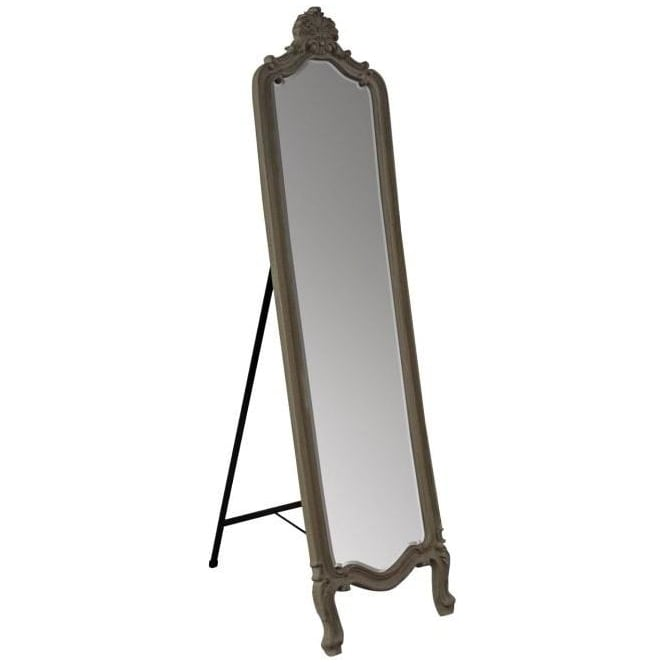 Cream Antique French Style Cheval Mirror