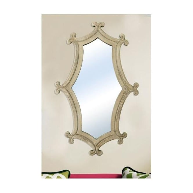 Cream Antique French Style Decorative Mirror