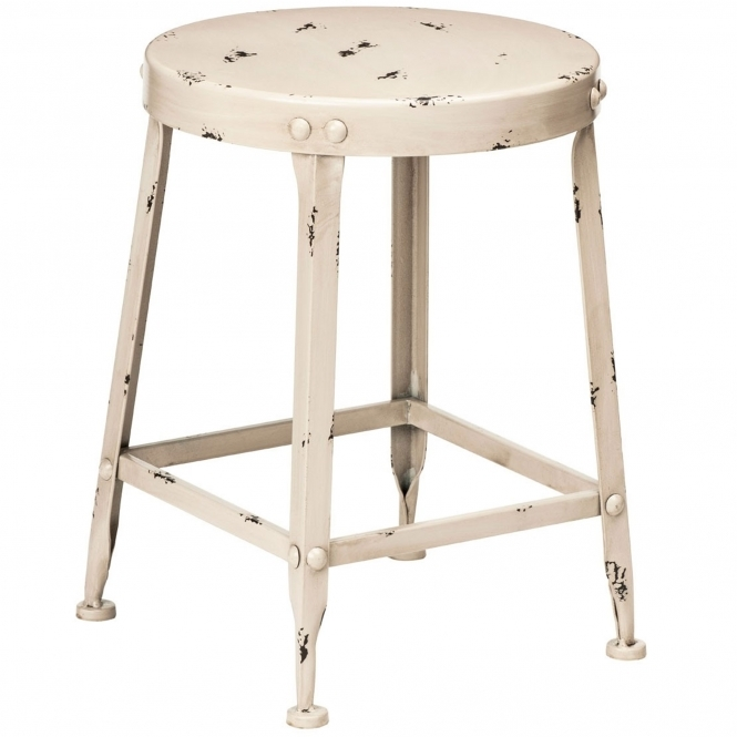 Cream Artisan Shabby Chic Stool