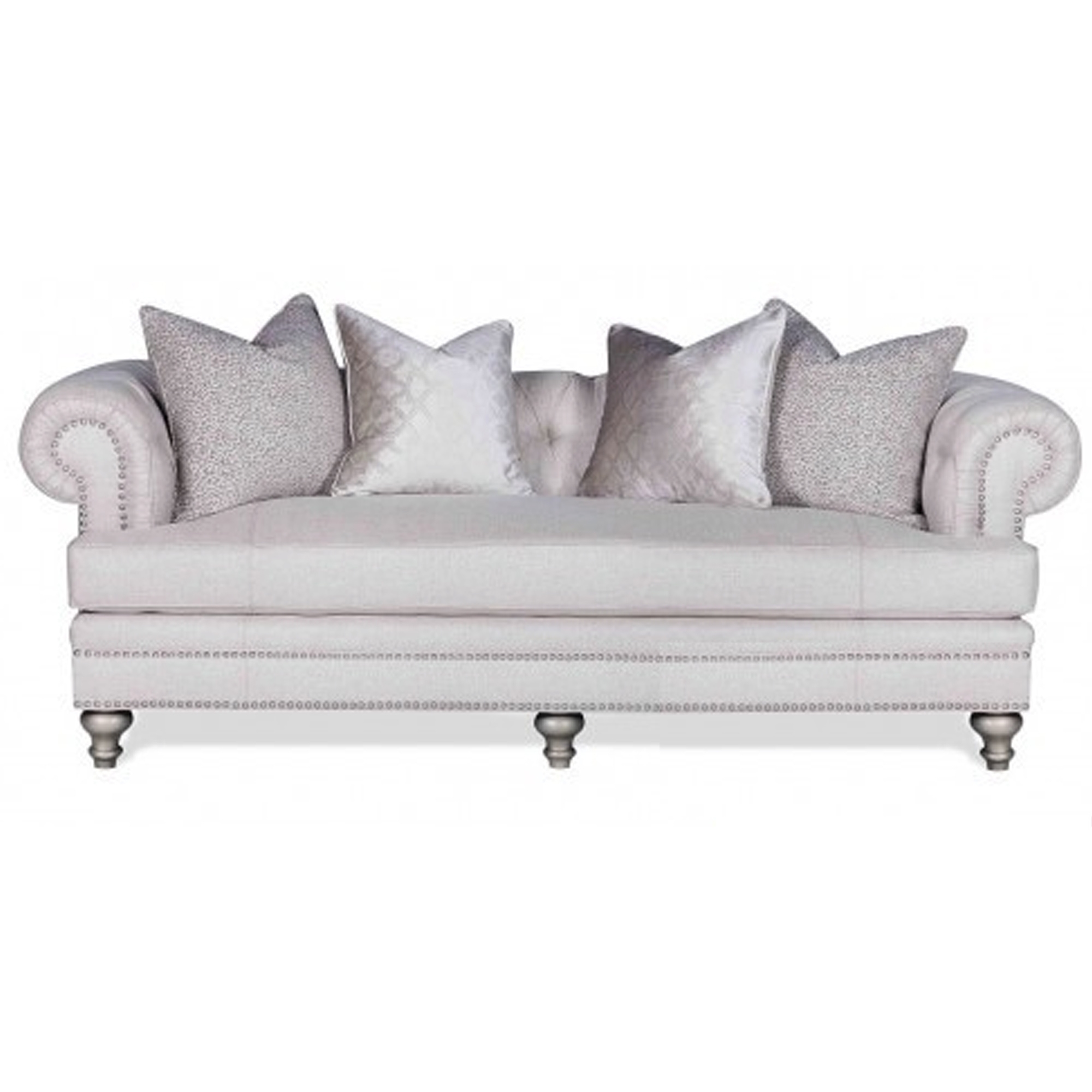 Cream Fabric 3 Seat Sofa
