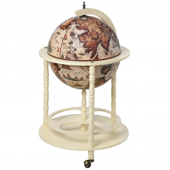 Cream Globe Drinks Cabinet