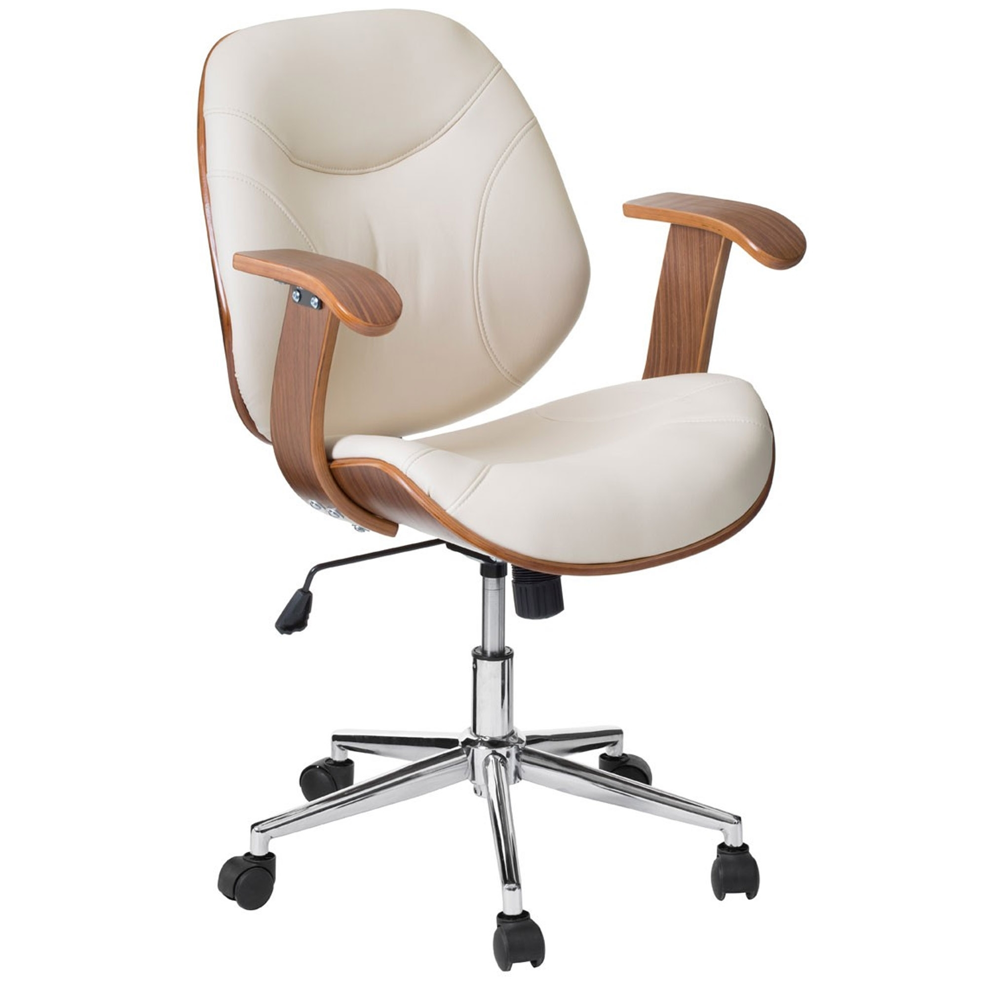 sc 1 st  HomesDirect365 & Cream Office Chair | Contemporary Study Furniture