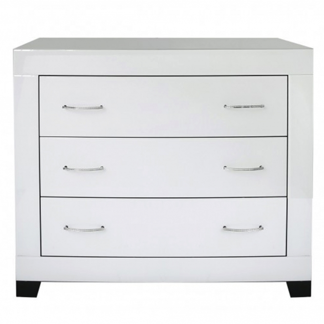 Cremona Clear Mirrored Chest of Drawers