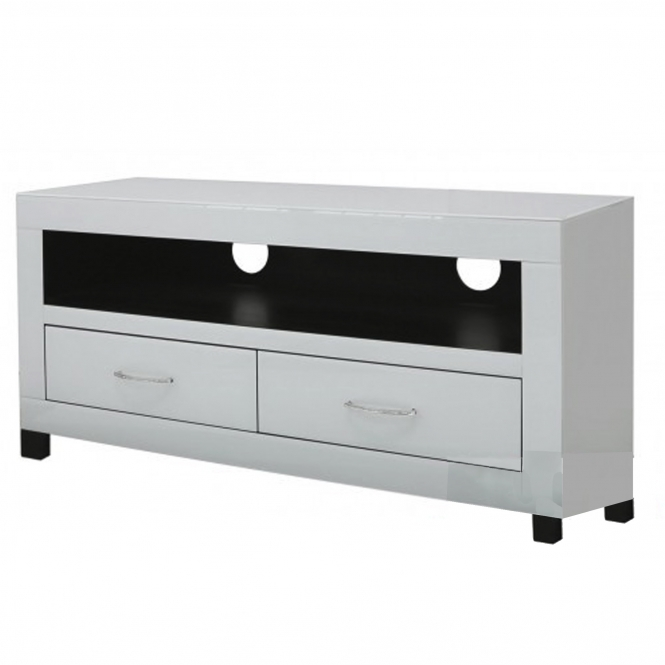 Cremona Clear Mirrored Entertainment Unit