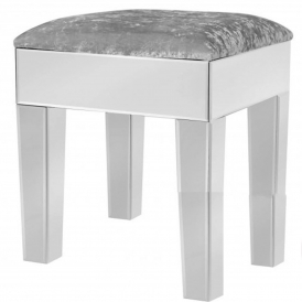 Cremona Clear Mirrored Stool