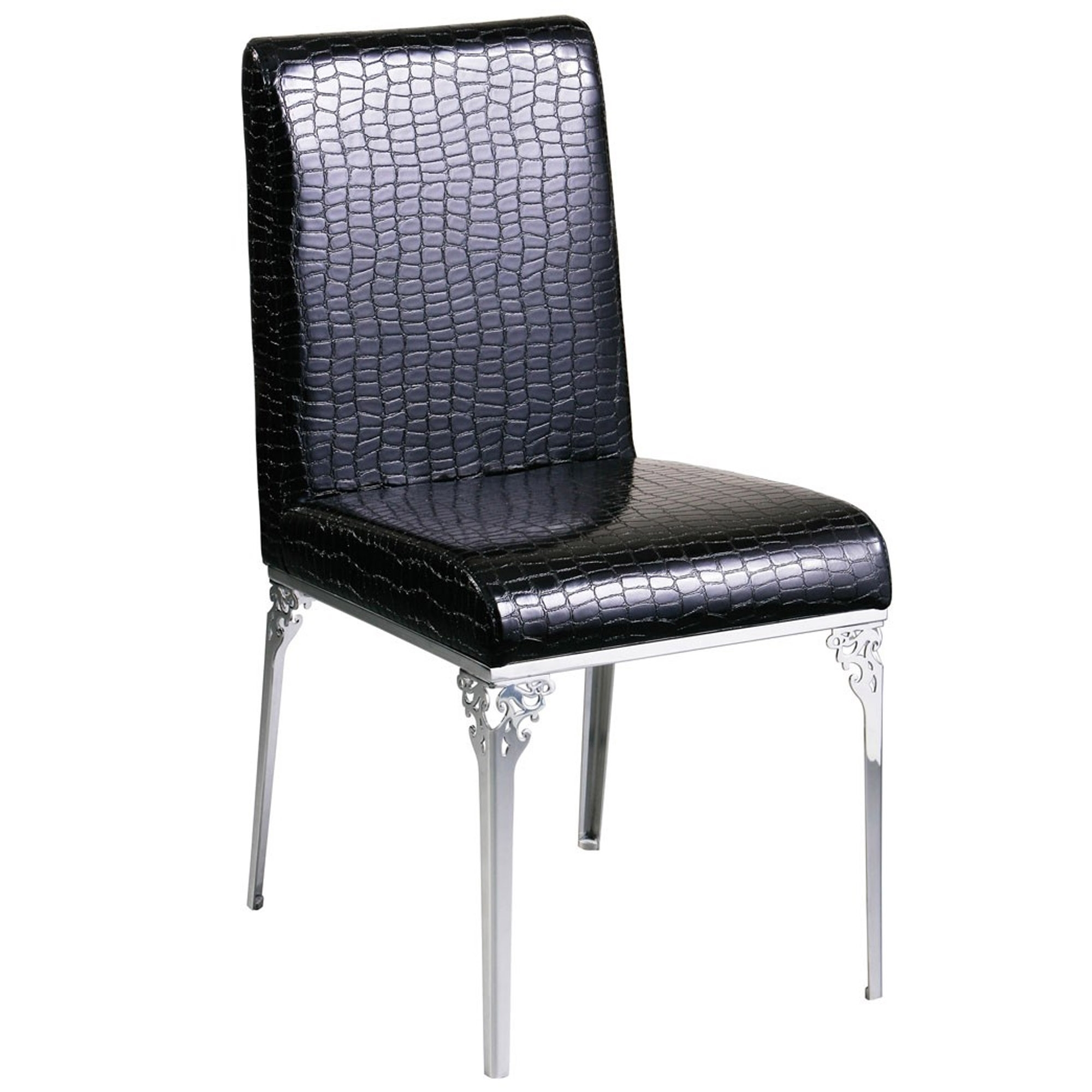 Crocodile Leather Effect Chair Modern Dining Furniture