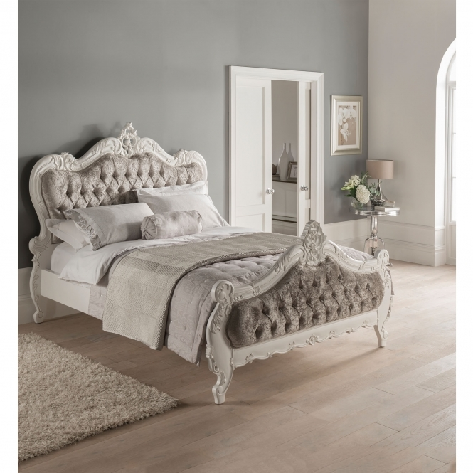 Crushed Velvet Antique French Style Bed