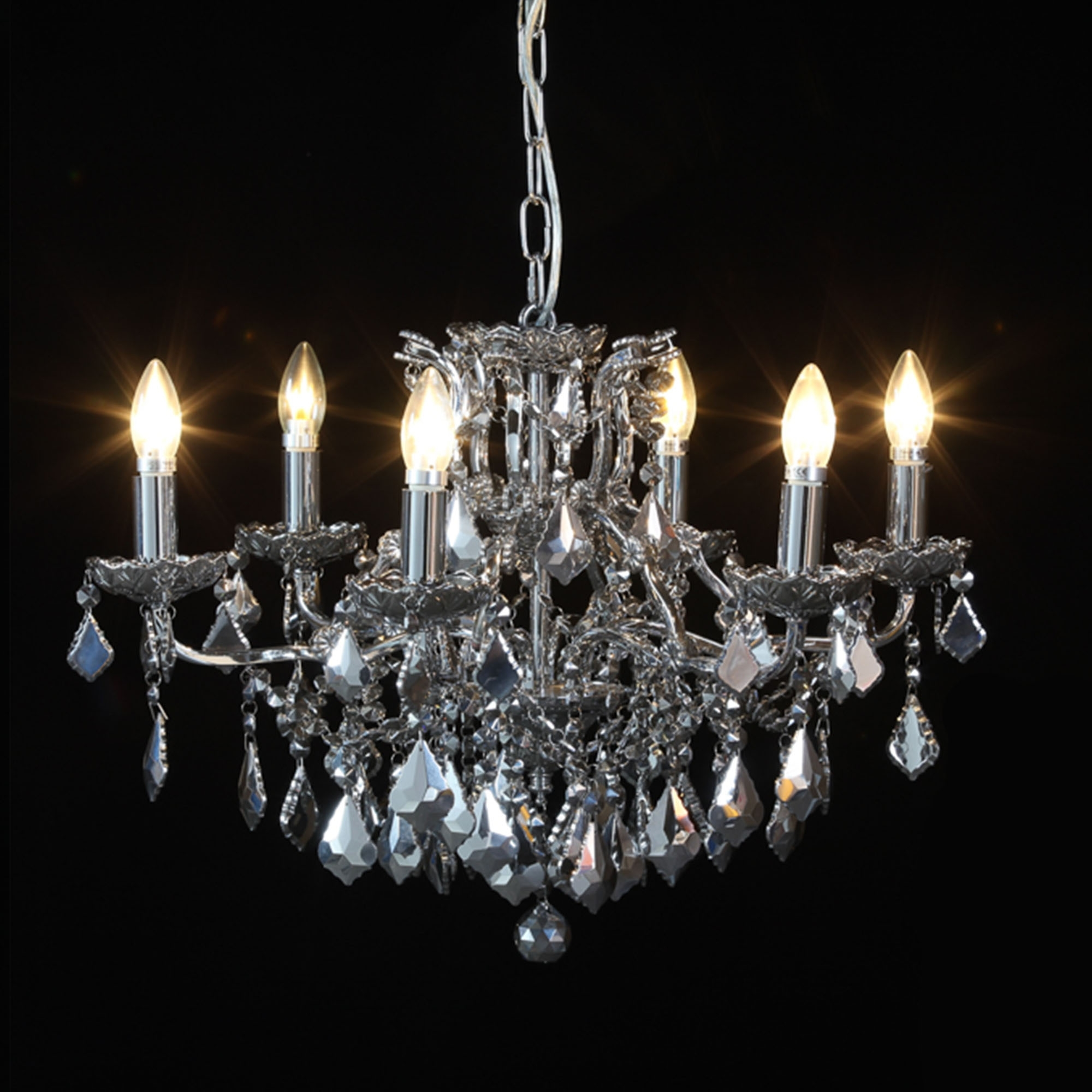 French Silver Chandeliers