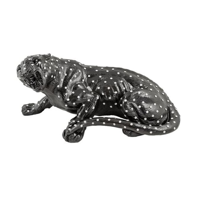 Crystal Panther Sculpture
