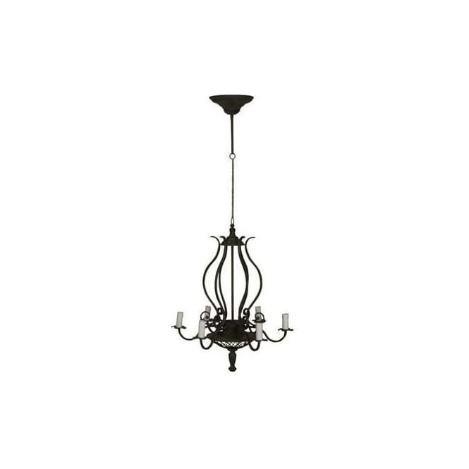 Curvy Iron Antique French Style Chandelier
