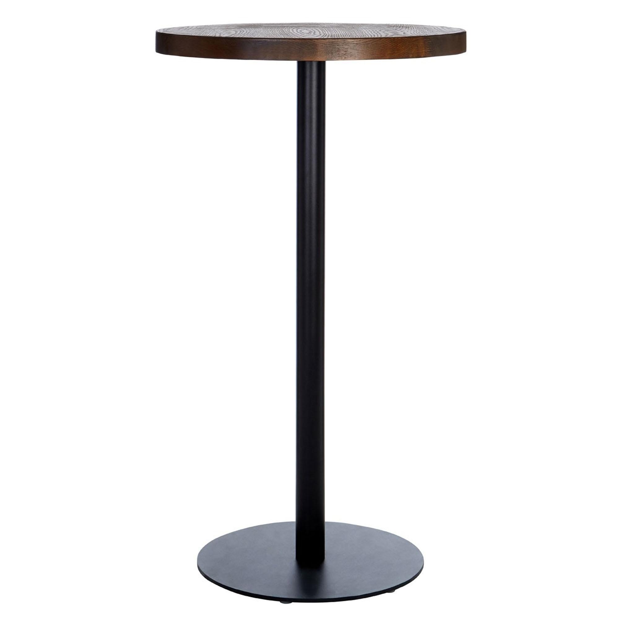 Dalston walnut rubberwood table