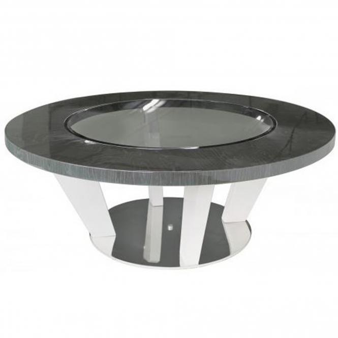 Dark Grey Modern Round Coffee Table