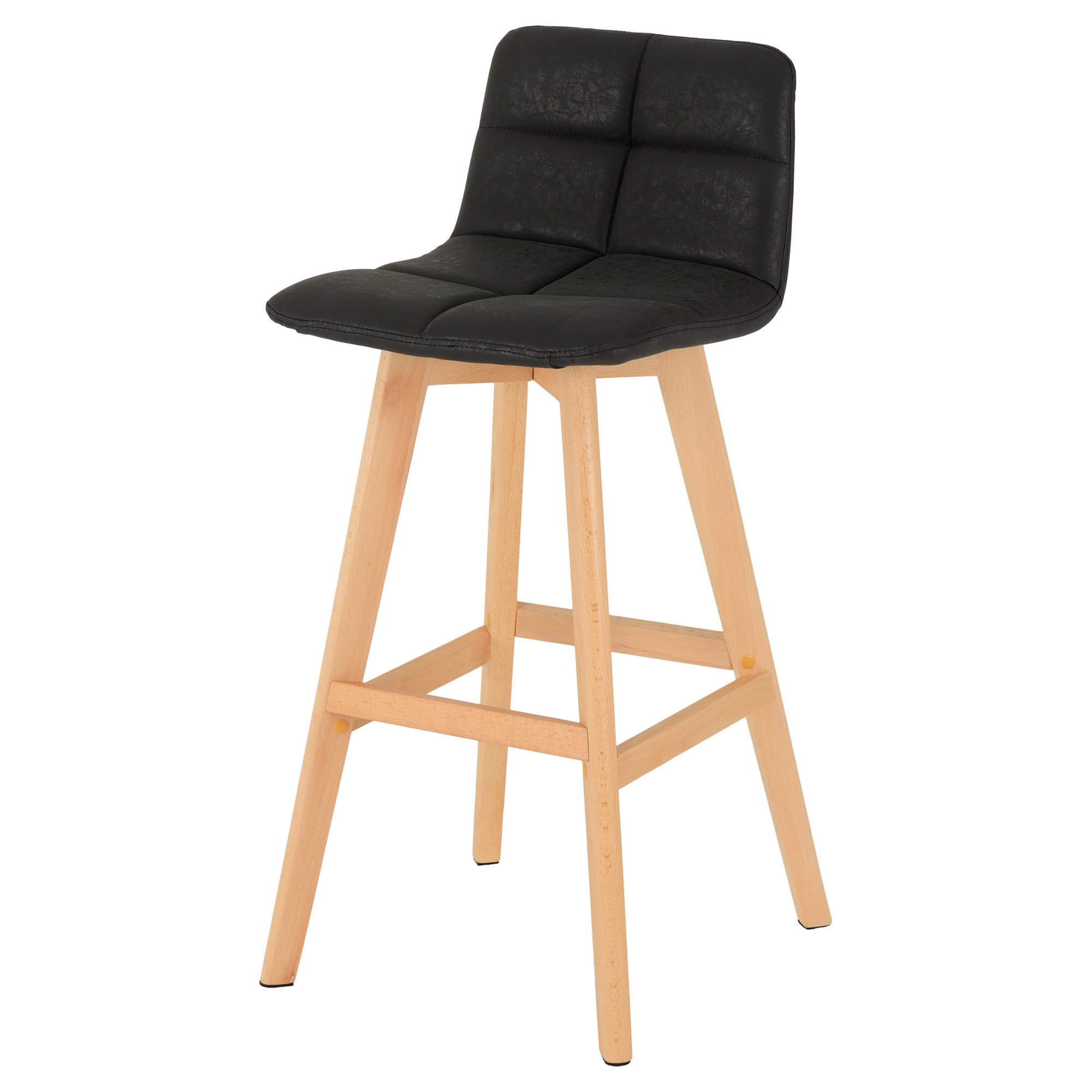 Picture of: Darwin Black Faux Leather Bar Chair Pair Pair Of Bar Stool Stool