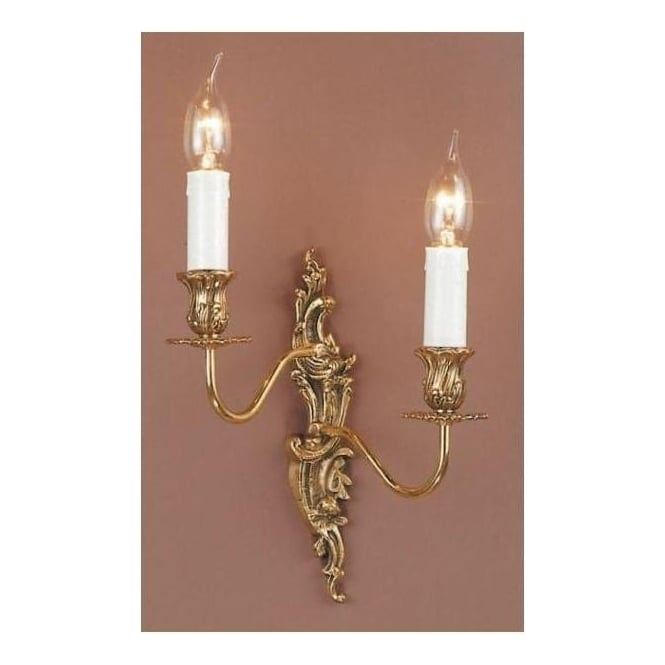 Dauphine Brass Antique French Style Wall Light