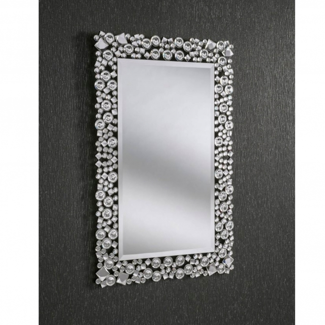 Decorative Crystal Rectangular Wall Mirror Homesdirect365