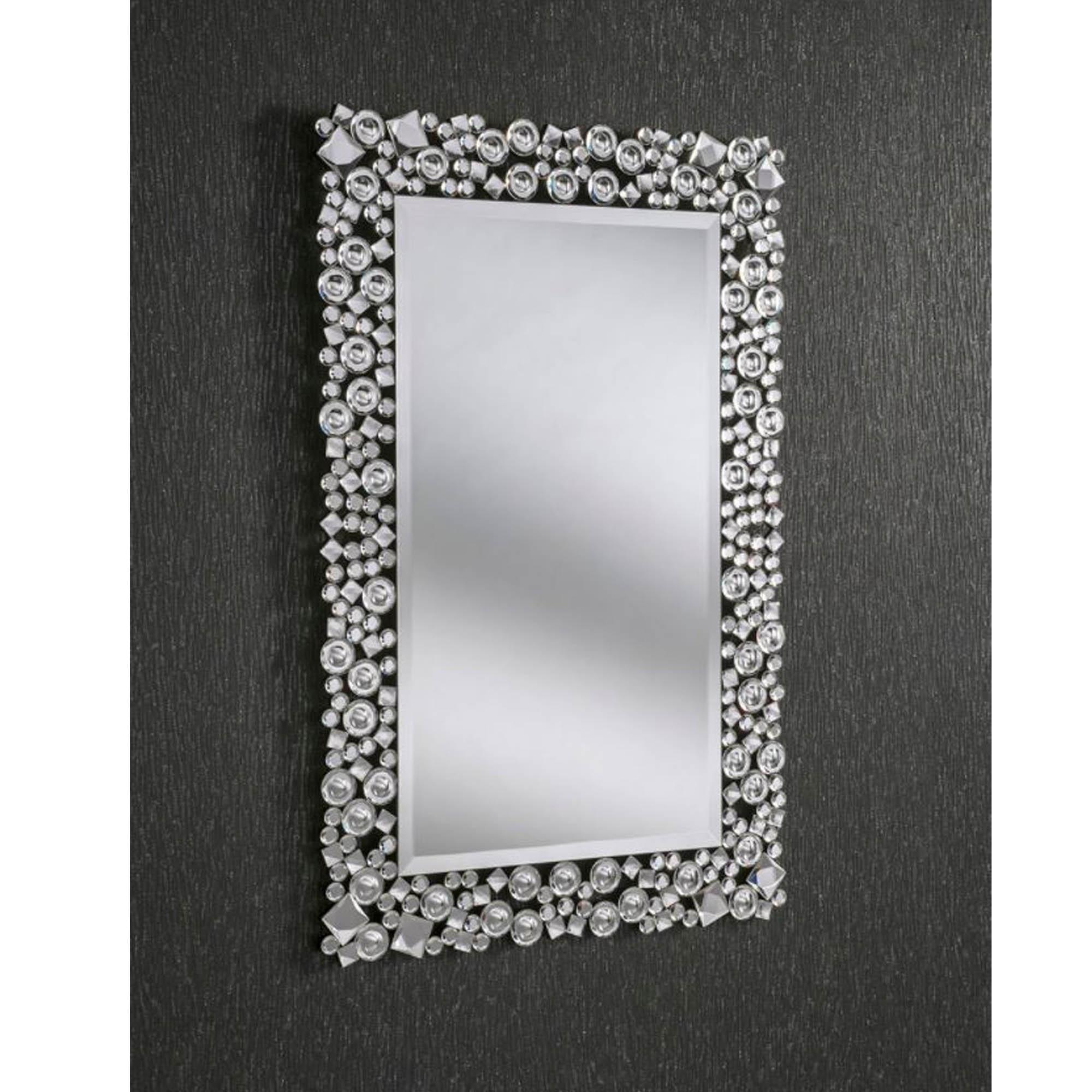 Decorative Crystal Rectangular Wall Mirror