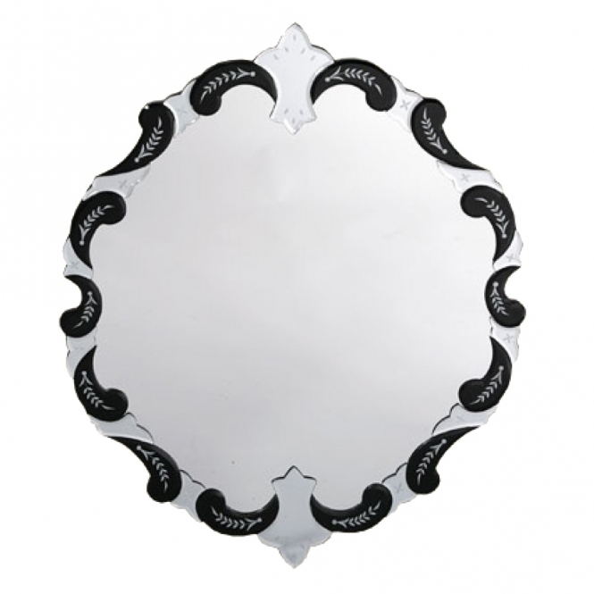 Decorative Etched Venetian Wall Mirror