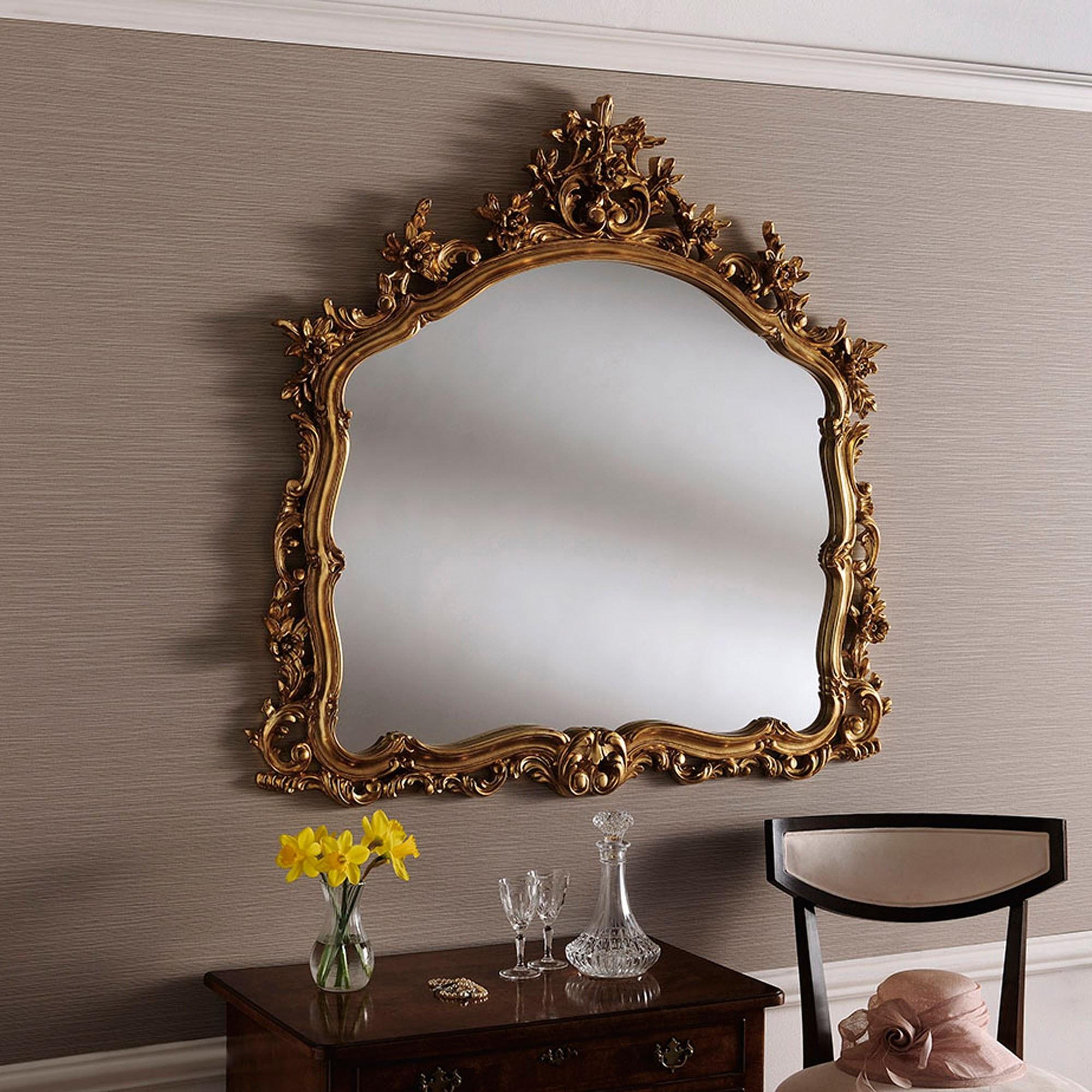 Decorative Gold Ornate Wall Mirror | Decorative Gold Mirror on Wall Mirrors id=76459