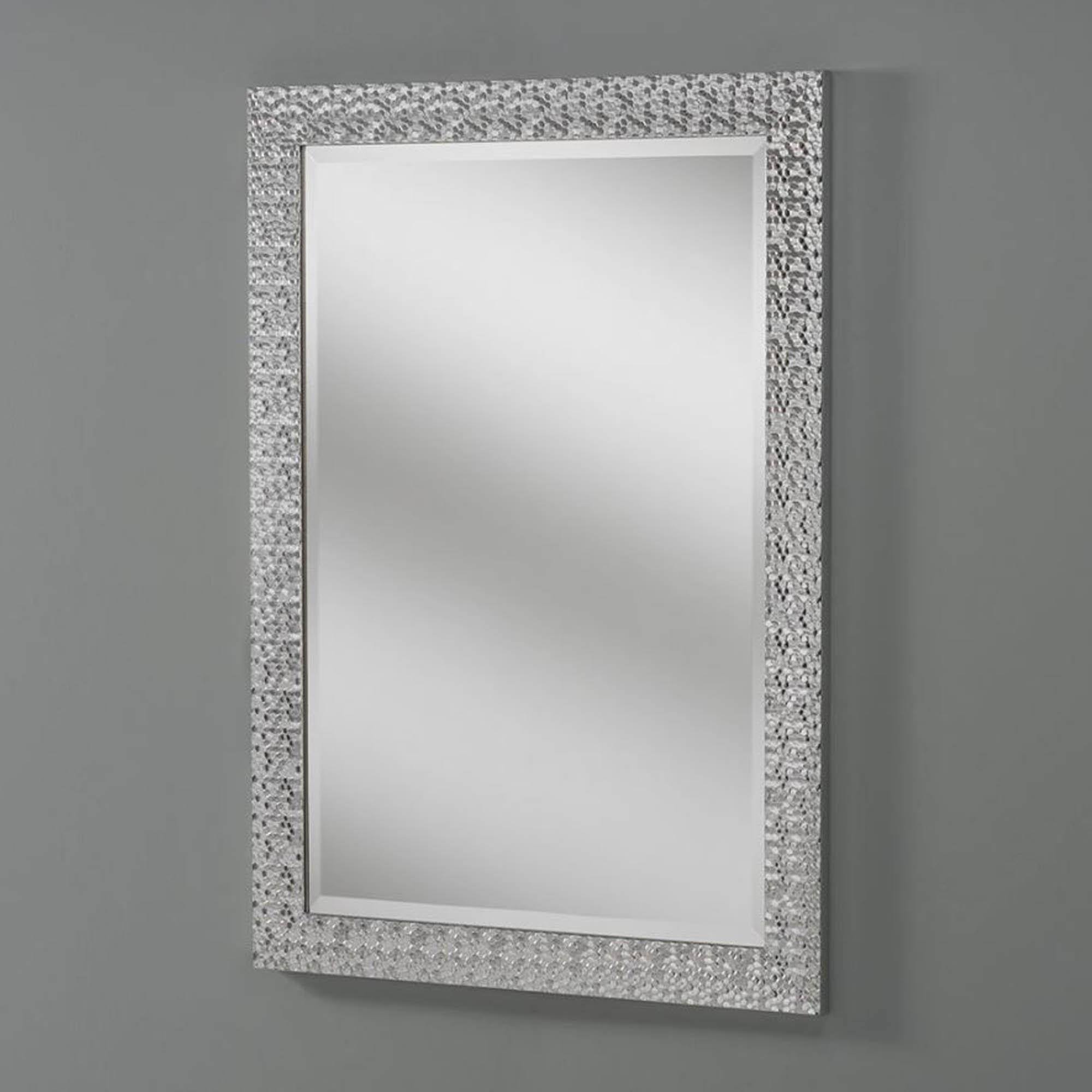 Silver Wall Mirrors Decorative.Decorative Hex Silver Wall Mirror