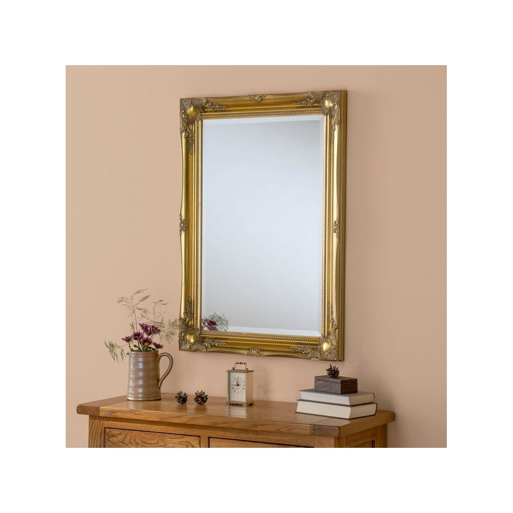 Decorative Ornate Antique French Style Gold Wall Mirror