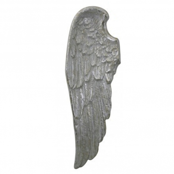 Decorative Silver Left Angel Wing