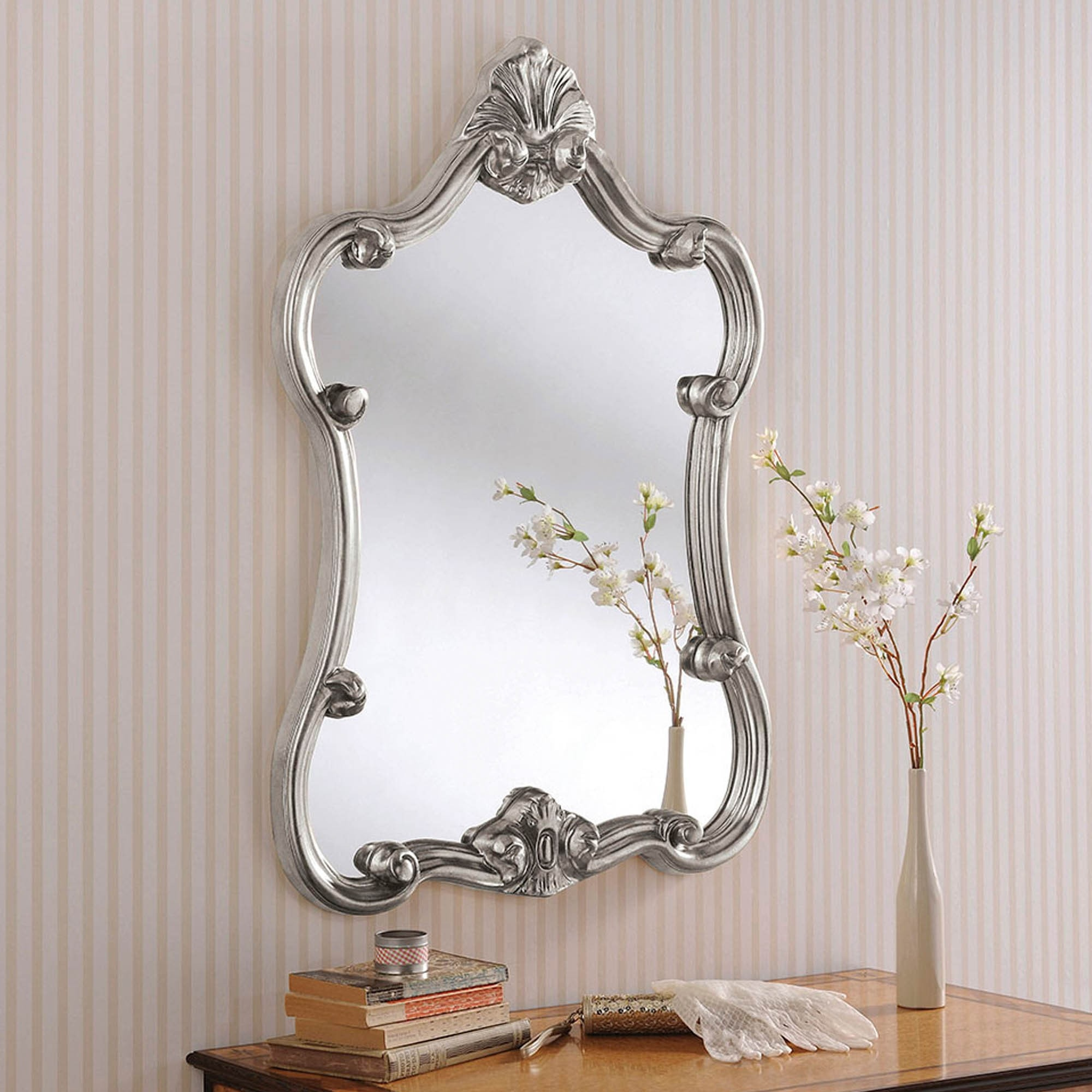 Are beveled mirrors in style scott 6 mega rolls
