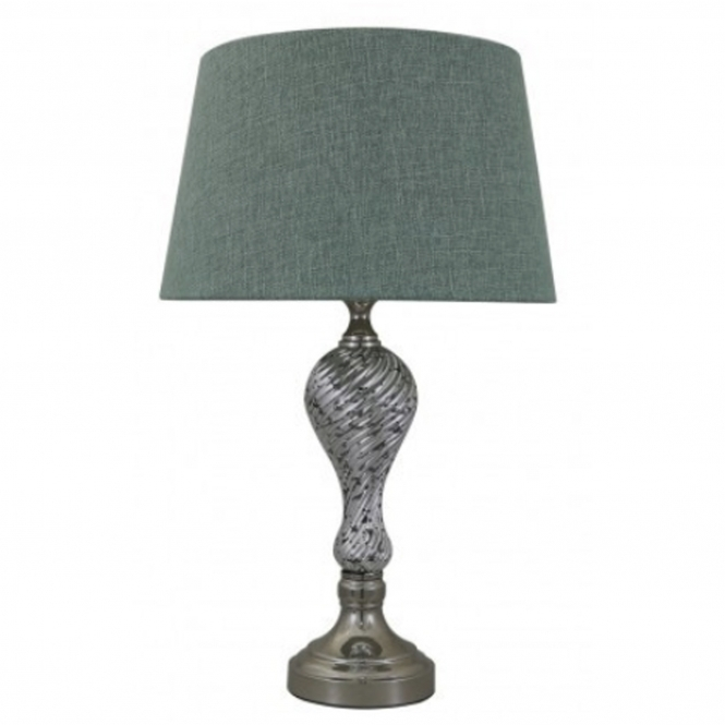 Decorative Silver Ripple Table Lamp