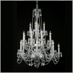 Cut Glass Chandeliers