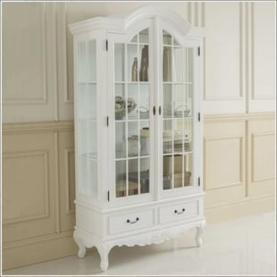 Display Cabinets Antique White