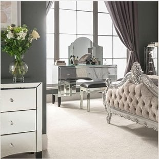 Mirrored Furniture and Mirrored Bedroom Furniture