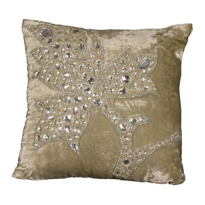 Diamante Leaf Cushion