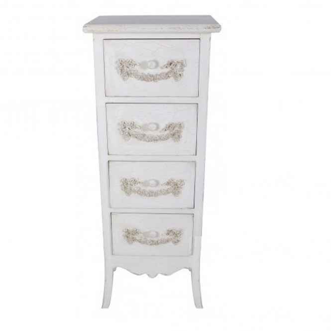 Dijon Ivory Antique French Style Tallboy