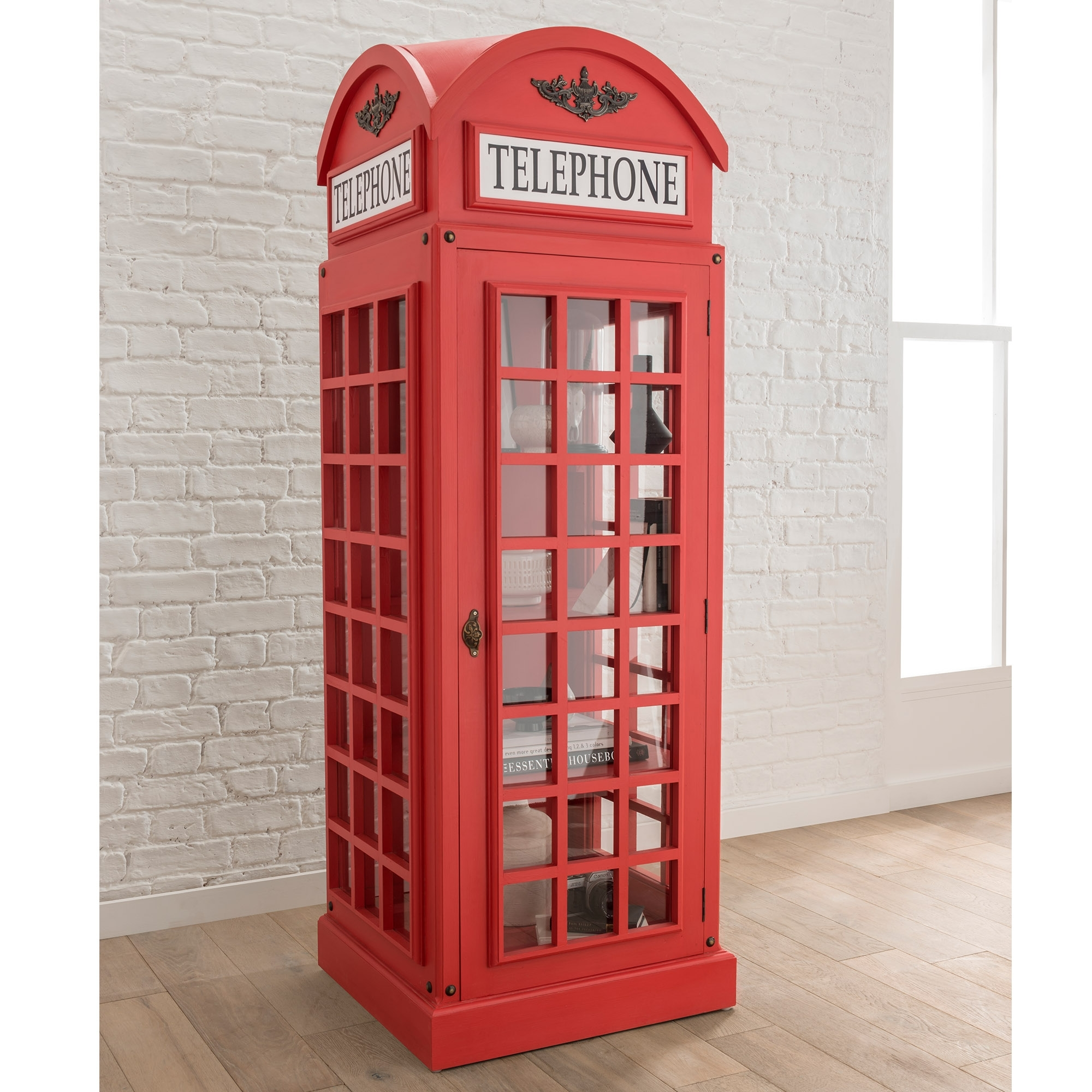 Display Cabinet In A Telephone Box Style Display Cabinets