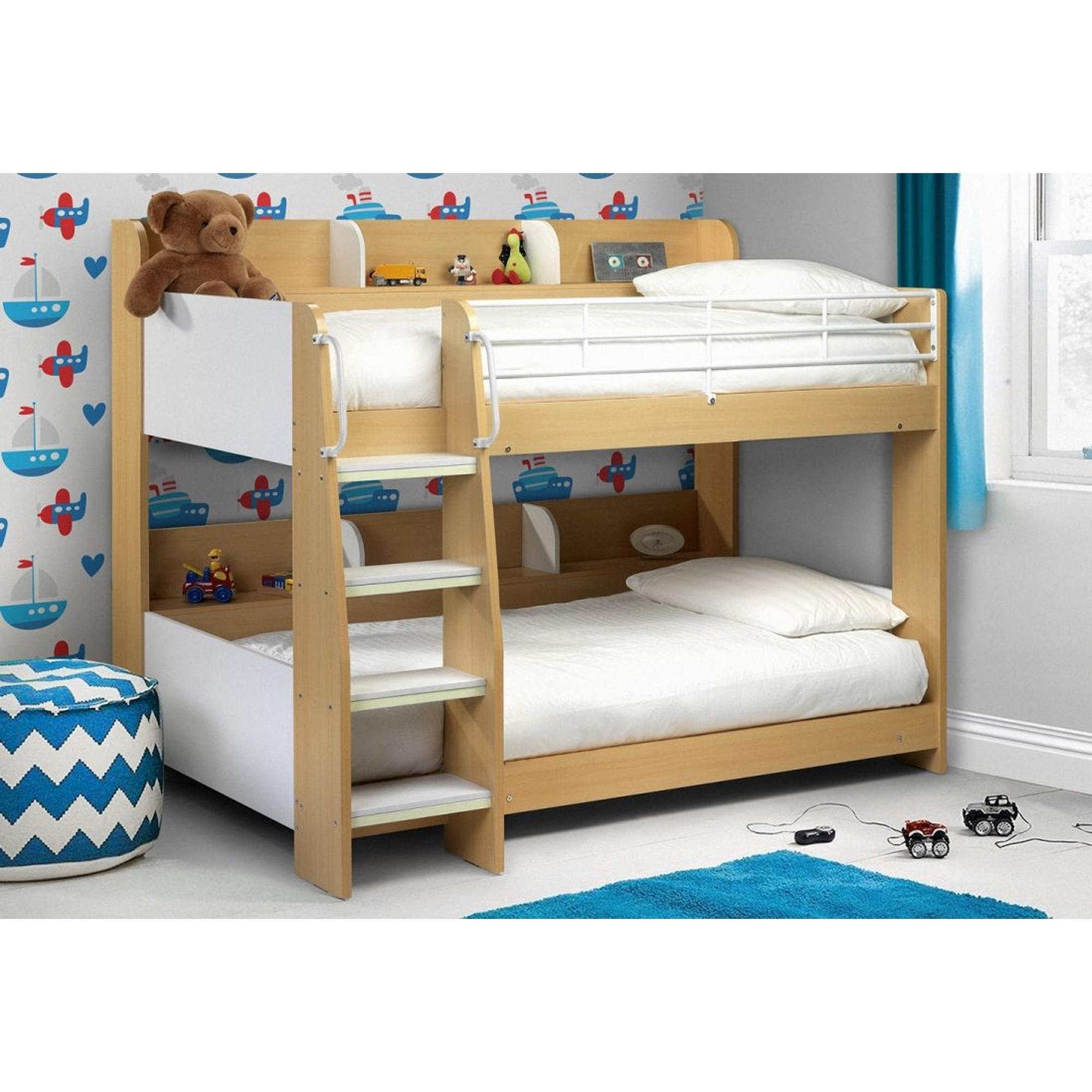 Domino Bunk Bed Maple White Contemporary Children Furniture